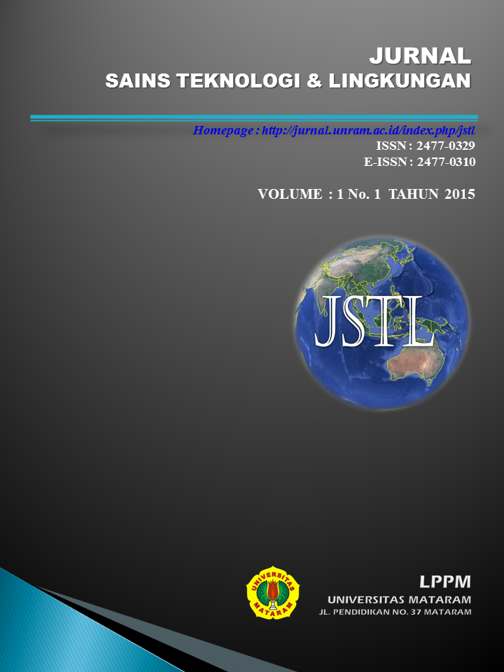 CALL FOR PAPER Jurnal Sains Teknologi & Lingkungan LPPM Universitas Mataram